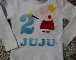 Body ou Camiseta Peppa Fada