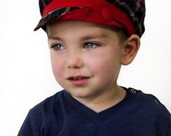 Boina Infantil Levi Masculina Xadrez