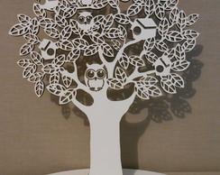�rvore Casinhas CORUJAS BRANCA 60cm