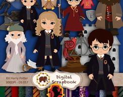 Kit Scrapbook Digital - Harry Potter