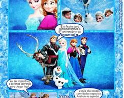 Frozen Convite Gibi
