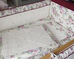 Ref 204c Kit Ber�o Floral Bordo -10 p�s