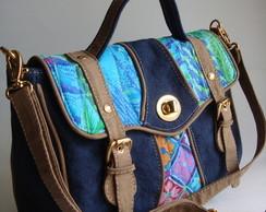 Mini Bolsa Carteiro - Azul