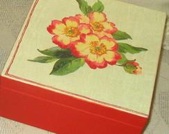 Caixa de ch� com flor
