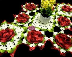 Caminho De Mesa De Croch� Flores
