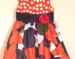 Vestido Infantil Minnie Mouse