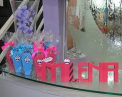 Letras em MDF decoradas Monster High