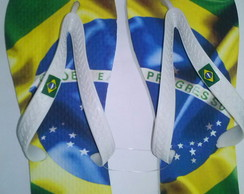 Sand�lia Estampa do Brasil Masculino