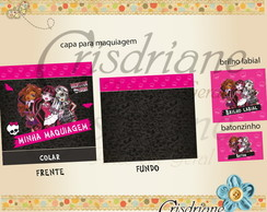 Kit de tags e adesivos Monster High