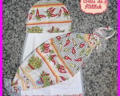 Kit de cozinha 2 pe�as Pimentas 3