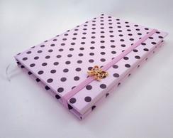 Caderno Po� Rosa e Marrom