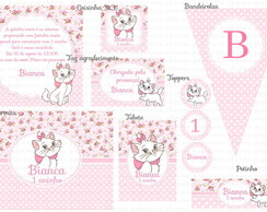Kit digital gatinha marie po� e floral 2