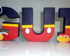 Letras 3D - Tema Mickey