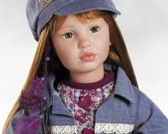 Lily boneca realista tipo reborn 75cm