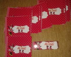 R�tulo Bis Minnie Vermelha