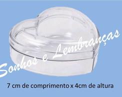 Cora��o Acr�lico 7cm - pcte c/10 un