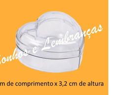 Mini Cora��o Acr�lico 4cm - pcte c/10 un