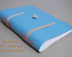 Caderno com capa de Couro Sint�tico