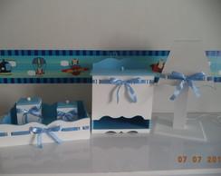Kit Higiene Passa Fita Azul e Branco