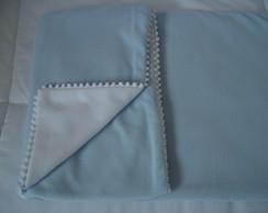 (MTO 0010c) Manta micro soft lisa azul