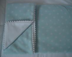 (MTO 0013) Manta micro soft estrela azul