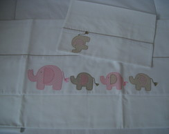 (JLA 0052) Jogo de len�ol elefantes