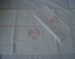 (JLA 0053) Jogo de len�ol baby rosa