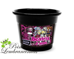cachepot de alum�nio monster high