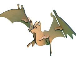 3d Puzzle - Morcego Em MDF