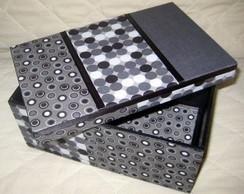 Caixa simples forrada com tecido