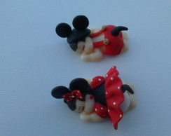 Lembrancinha biscuit beb� Mickey e Minie