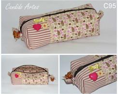 N�cessaire box/ estojo patchwork floral