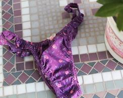Calcinha Floral Mini Roxinha