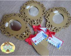 Espelho Branca de Neve (dourado)
