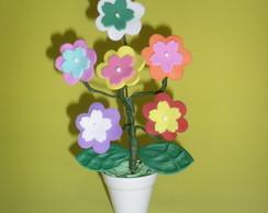 Arranjo de florzinhas para lembrancinhas