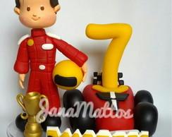 Topo de bolo Piloto F1 personalizado