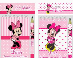 Bloquinho Anota��o Mini L�pis Minnie