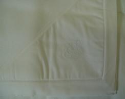 (MT 0055) Manta micro soft coroa branca