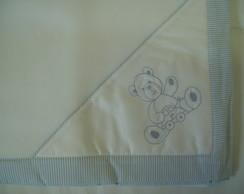 (MTO 0022) Manta micro soft urso azul