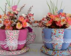 X�cara de tecido (S/ as flores)