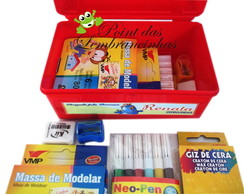 Kit mini maletinha escolar