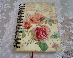 Caderno MDF decorado