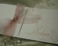 Convite Casamento tons rosa nude
