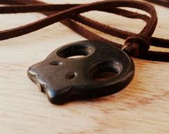 Cord�o Camur�a Caveira Black