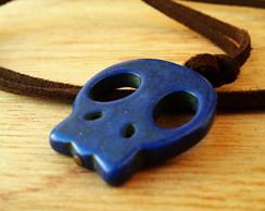 Cord�o Camur�a Caveira Azul