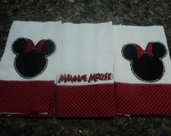 Kit 3 Fraldinhas - Minnie Mouse