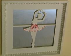 Quadrinho Vasado - Bailarina com Espelho