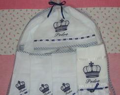 Kit Beb� com toalha capuz + 4 toalhas