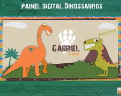 Painel Placa Festa Dinossauro digital
