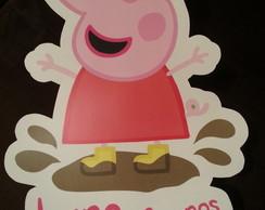 Plaquinhas Peppa Pig para festa infantil